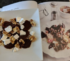 Beetroot, Goat Cheese and Walnuts