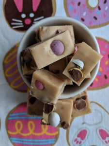 Easter Fudge from the top