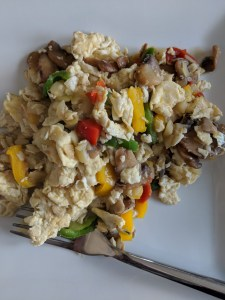 plate of Veggie Egg scramble