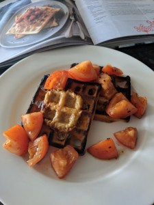 Welsh Rarebit waffles