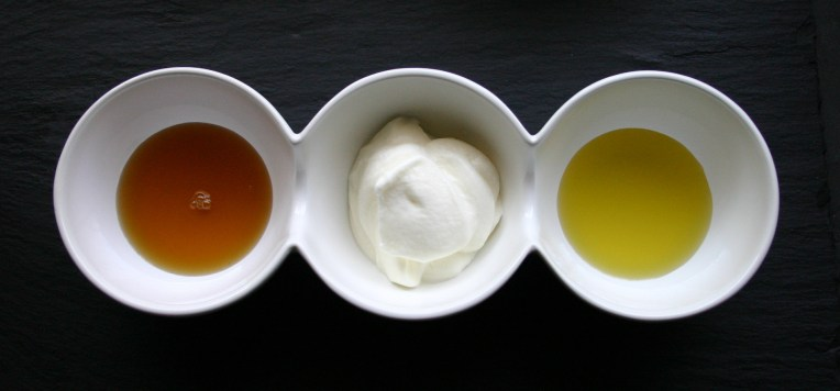 Biltong bowl #2   honey, yogurt and truffle flavoured olive oil