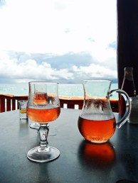 Chilled rose at Anse Soleil