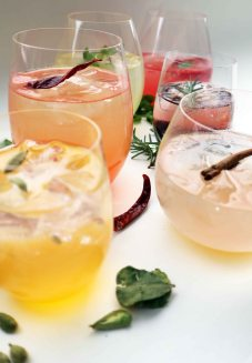 Peach simple syrup with zesty infusions