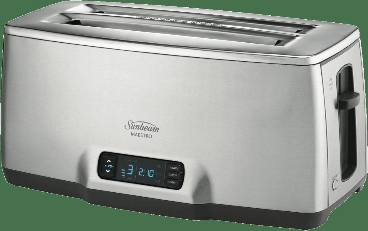 sunbeammaestro 4 slice toaster stainless steel