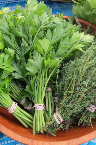Beyond Basil: herbs and greens for pesto