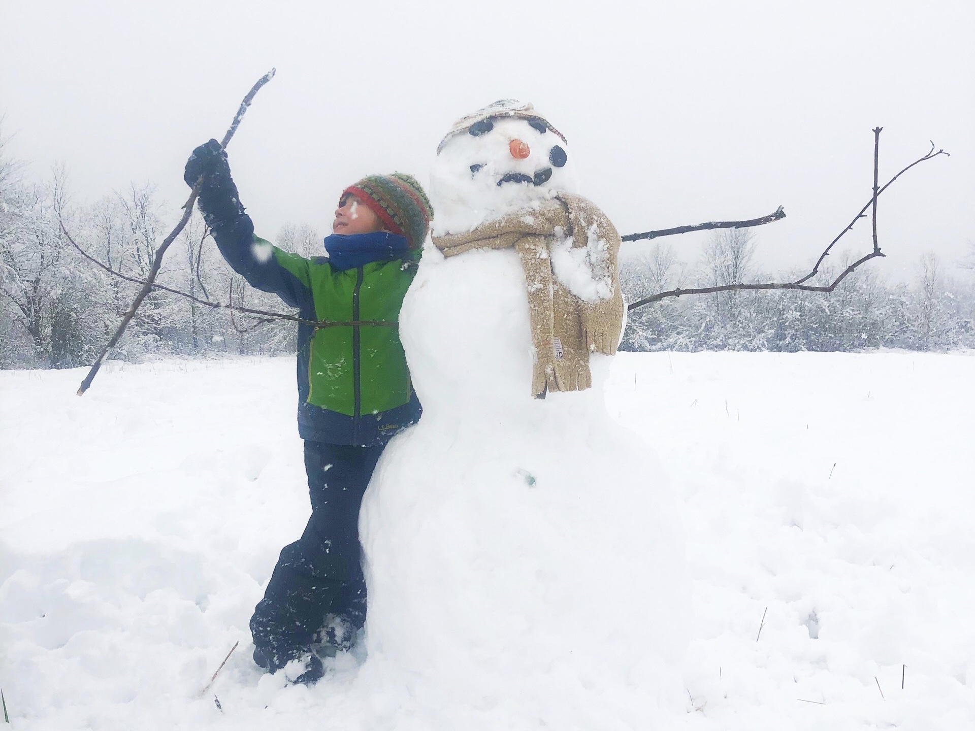 Winter came early this year: November 14th and the first snowman of the season