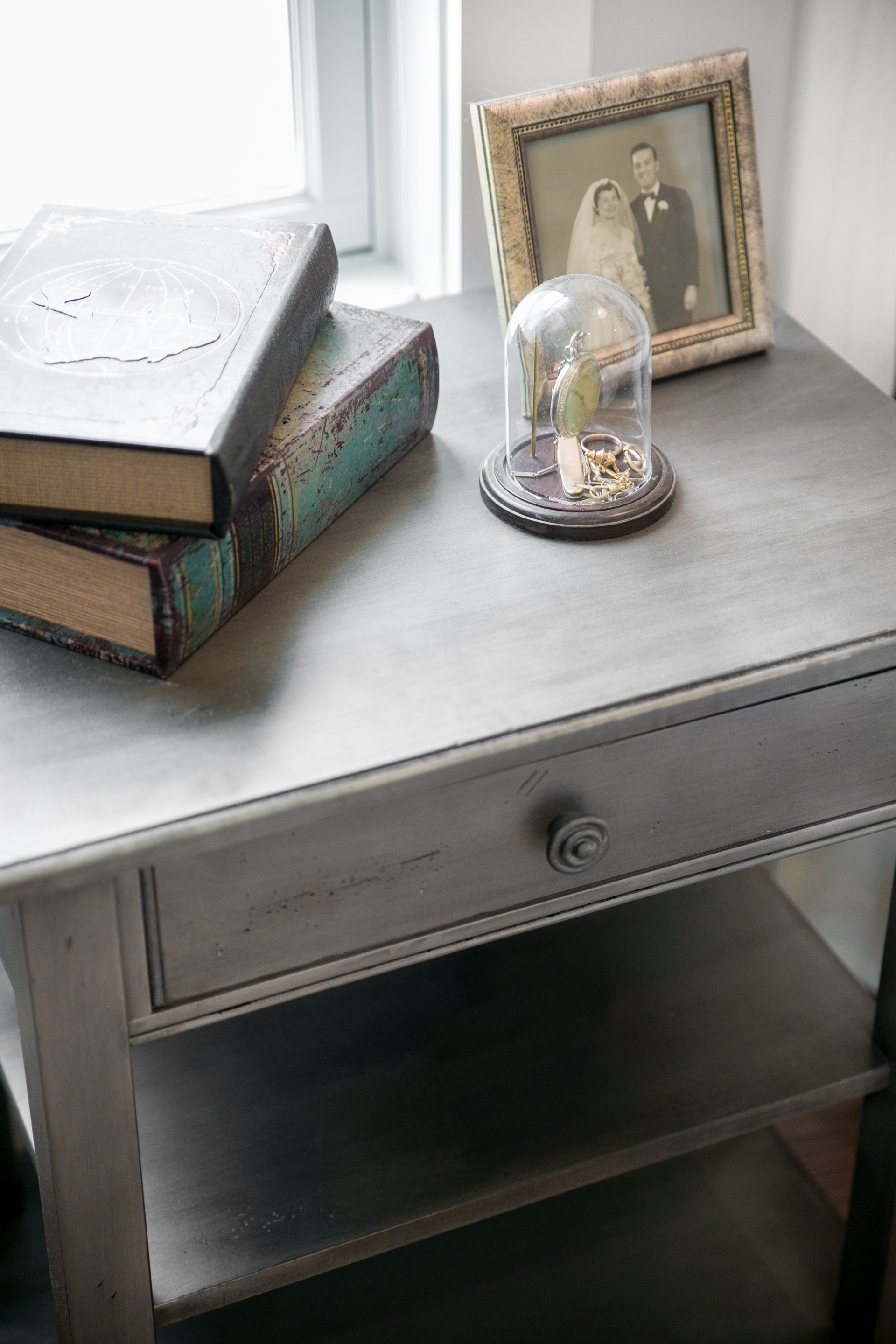 Grey Distressed Nightstand The Good Home Interiors Design