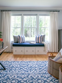 photo of window seat and Chandelier Ink rug