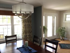 photo of dining room with view of the foyer