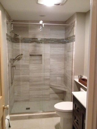 photo of guest suite frameless shower