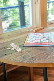 photo of barn board table