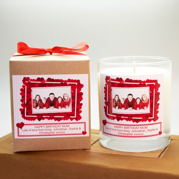 personalised photo candle
