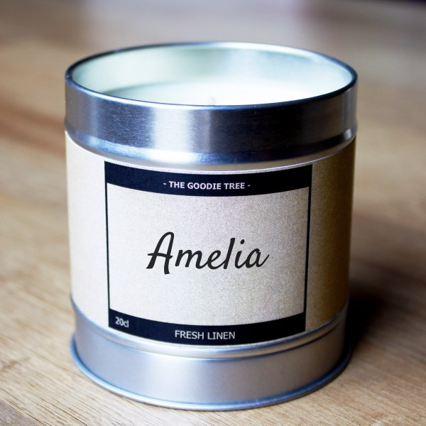 Name of your choice candle tin lid bottom