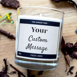 Your custom message candle