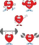 Statins vs Lifestyle Changes - What is best for your Heart Health? Illustrated by a heart doing exercises.
