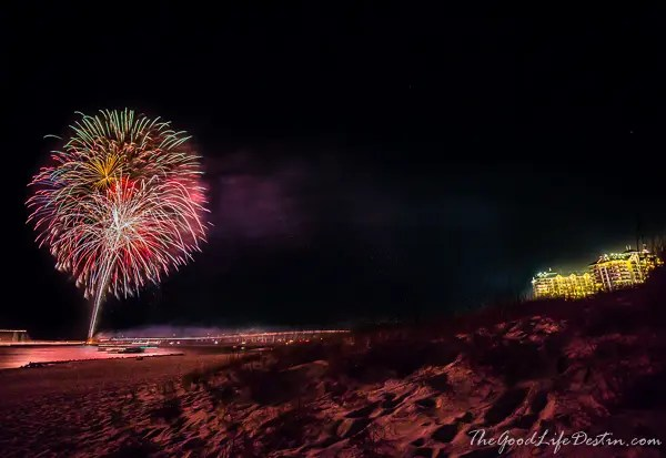 Fireworks from Norriego Point