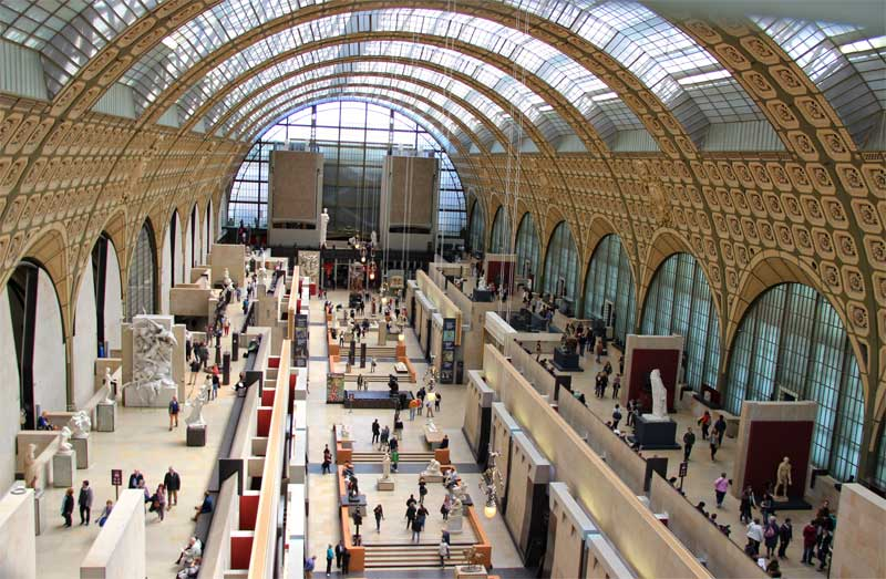 Ground floor of the Musee d'Orsay Paris, a former train station