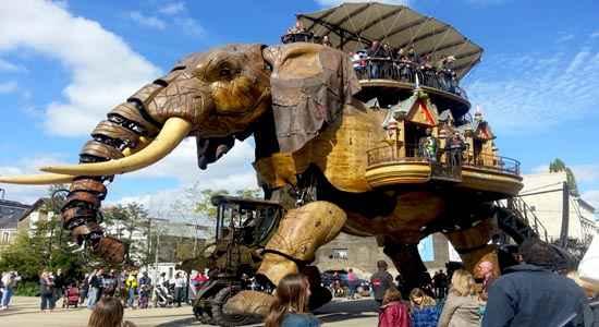 mechanical elephant at nantes