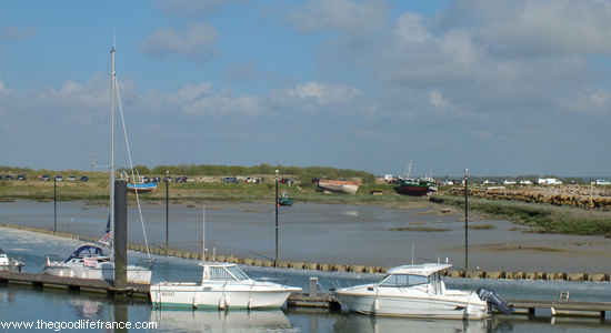 View over the Somme Bay from Le Crotoy