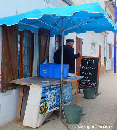 fisherman selling fish from his home le crotoy france