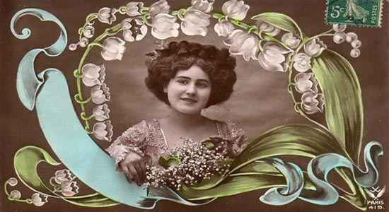 may day card from France 1900s