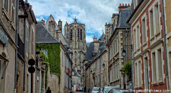 bourges view of the cathedral