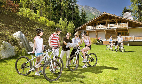 cycling in the french alps in the summer