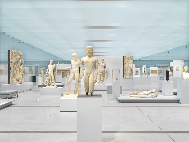 Ancient statues at the museum of Lens