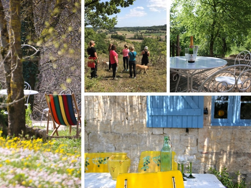 Scenes from the Happy Hamlet retreat in France