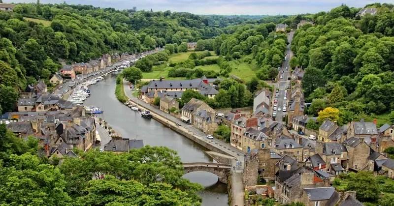 View over the River Rance, Dinan
