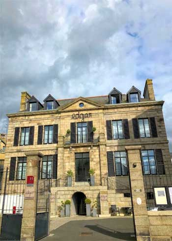 Facade of Hotel Edgar, Saint-Brieuc, Brittany