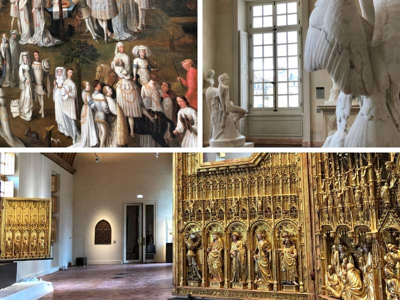 Art on show in a museum located in a former Palace in Dijon