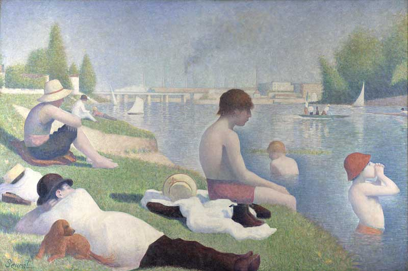 Painting consisting of thousands of coloured dots by Georges Seurat