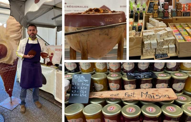 Chef and artisan made products at the gastronomic fair in Thones, near Annecy