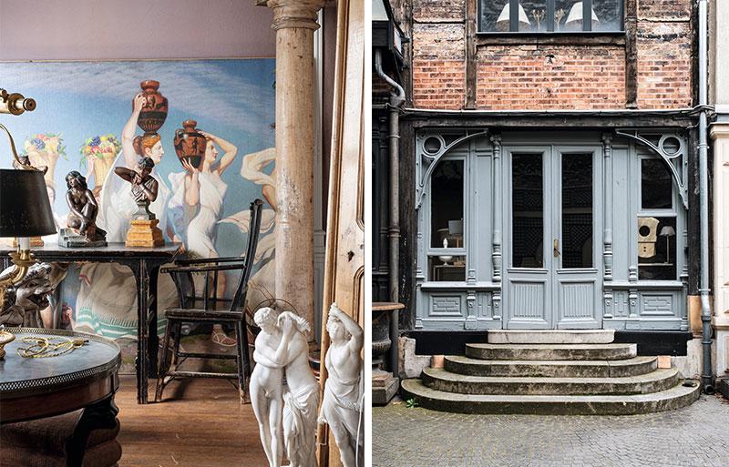 Beautiful art deco style frontage of shop. Soubier, Paris