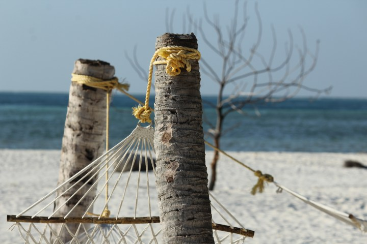 Hammock on Thinnakara island - Lakshadweep islands