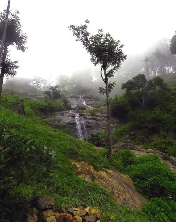 Misty waterfall at OLand  - O'Land plantation, Coonoor