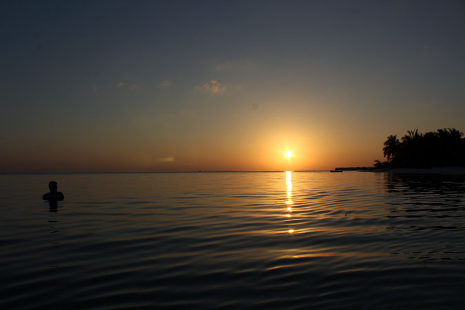 Sunset at Thinnakara island, Lakshadweep, India