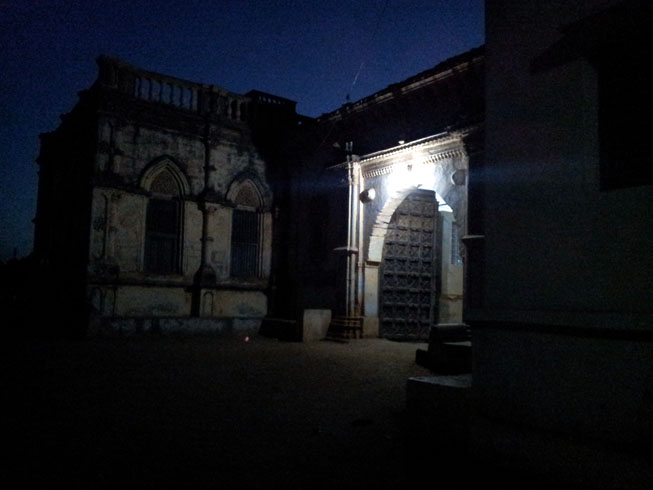 Entrance to Devpur haveli in Bhuj, Gujarat, India