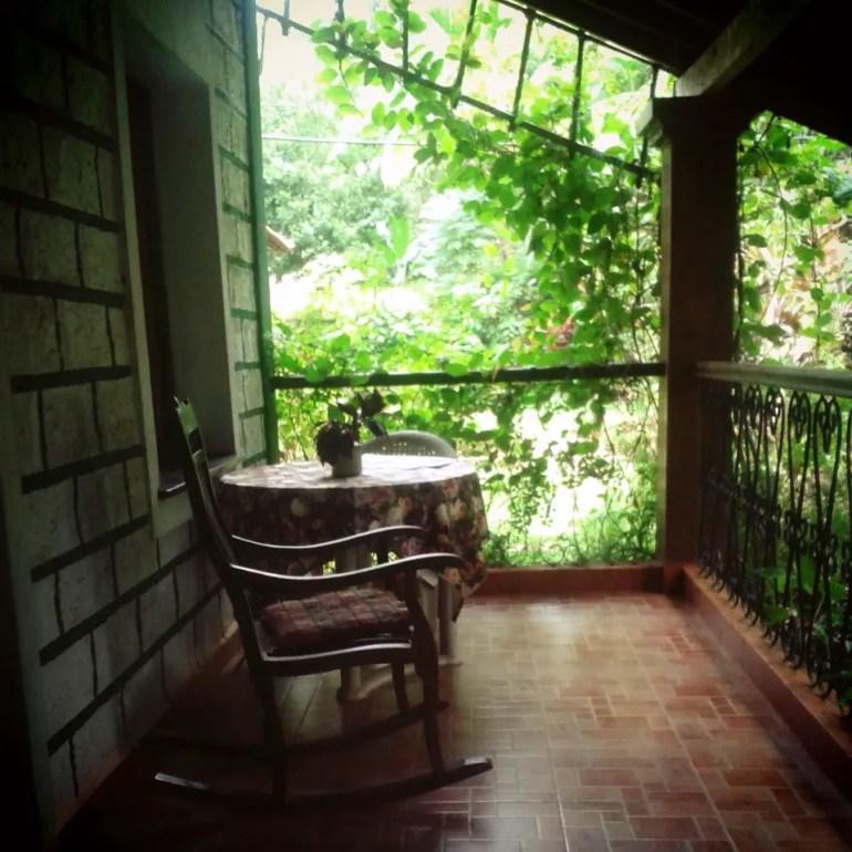 Verandah at canio's House - An off-the-beaten-path Goan holiday