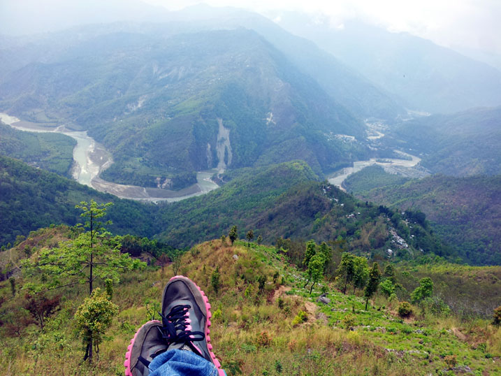 View of the Teesta river from just outside Kalimpong, West Bengal, India - travel photos
