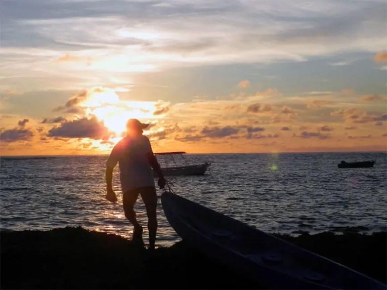Sunrise on Bird Island, Seychelles