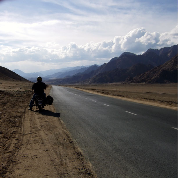 On the Leh-Srinagar highway in Ladakh, India - an escape from the summer heat
