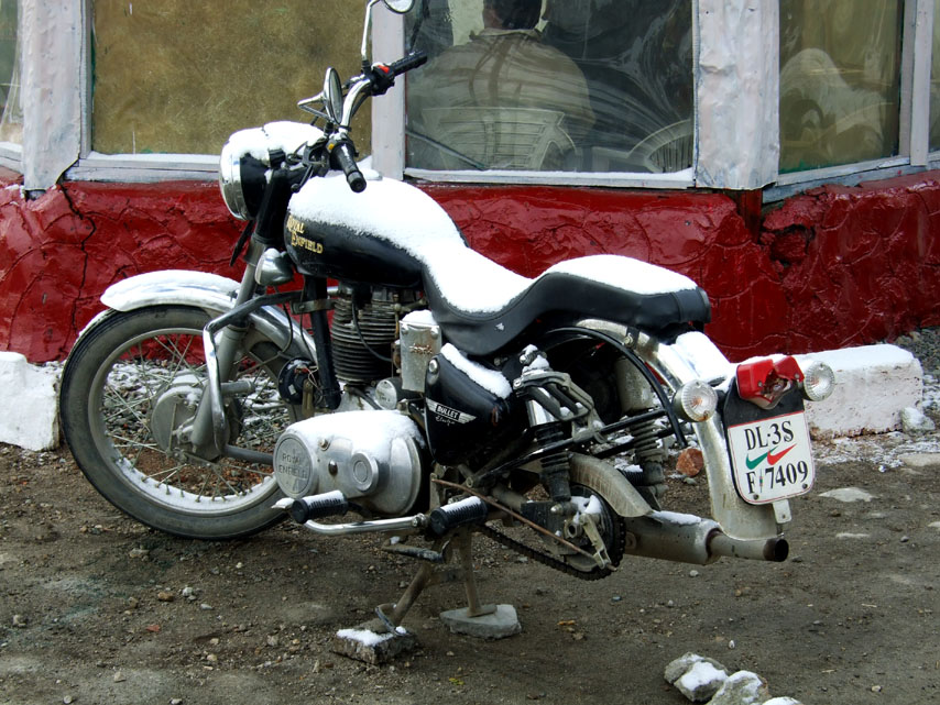 Leh - Snow bike at Chang La - Eight things we learned in Ladakh