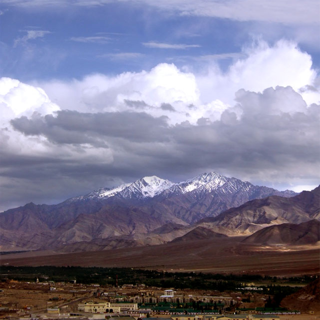 Leh - Storm capped mountains 2