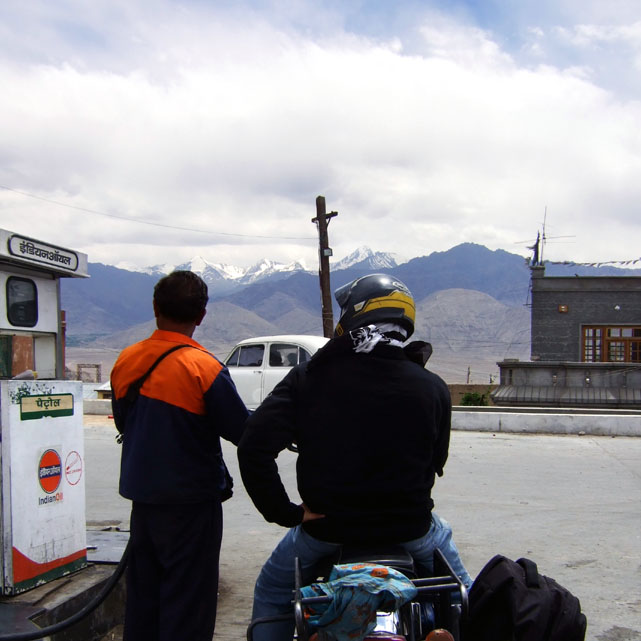 Leh - tanking up - Eight things we learned in Ladakh