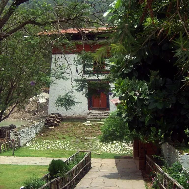 Bhutan - Punakha interior garden