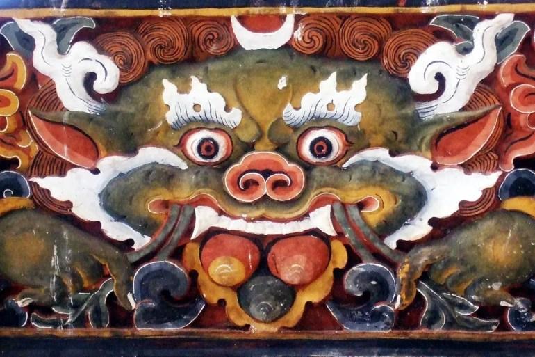 Bhutan - Punakha interior painting