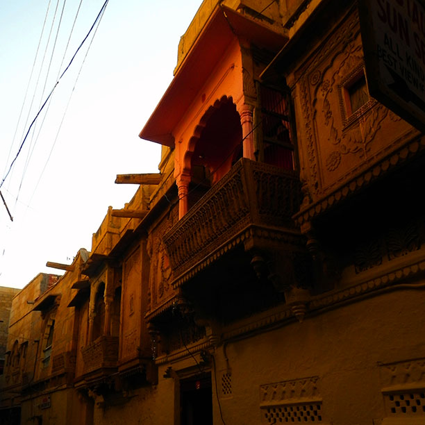 Jaisalmer - early morning in the fort