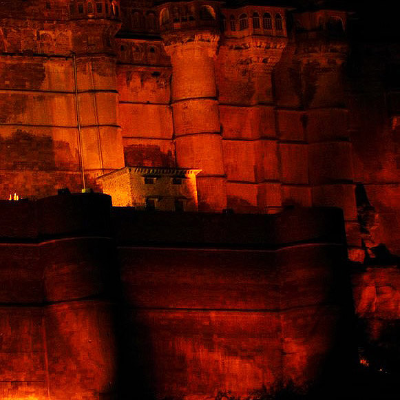 Jodhpur - Mehrangarh entrance at night - Eight great reasons why you should visit Rajasthan, 'land of kings'